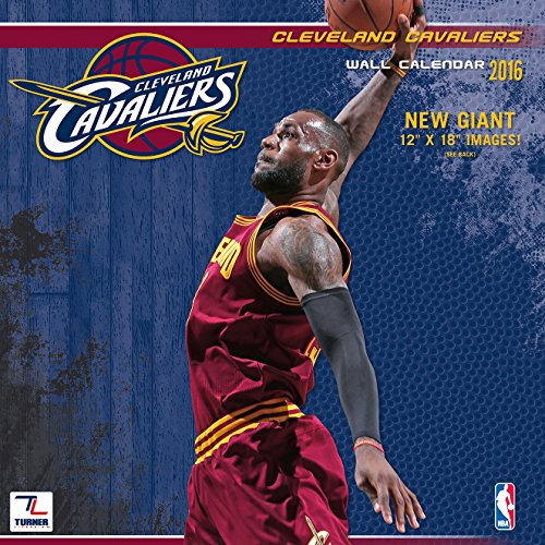 "Turner Cleveland Cavaliers 2016 Team Wall Calendar, September 2015 - December 2016, 12 x 12"" (8011874)"