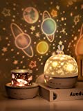 AOCHEN Fancy 8 Films Moonlgiht Bunny Night Light Kids Projector Lamp for Children Lighting Baby Nursary Birthday Party…