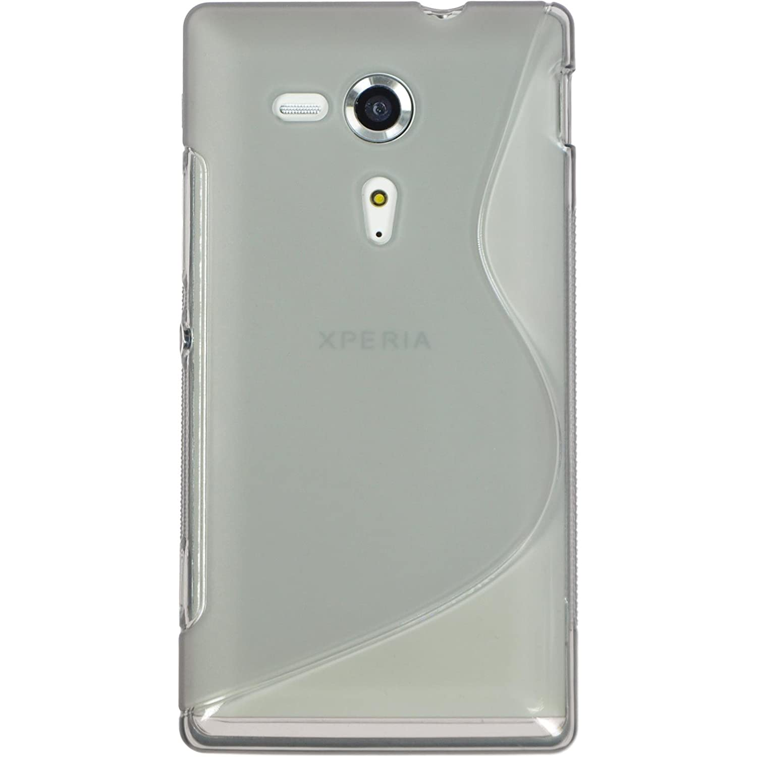 Amazon Silicone Case for Sony Xperia SP S Style gray Cover PhoneNatic protective foils Cell Phones & Accessories