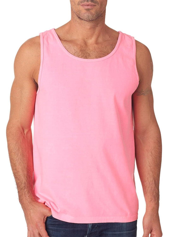 Chouinard Adult Garment-Dyed Tank Top, Neon Pink PgmDye, Large