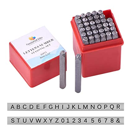 Amazon.com: PandaHall Elite 36 Pcs Letter and Number Metal Stamp