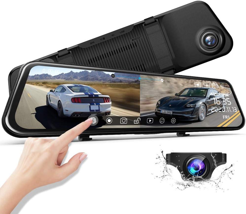 Azdome 11 8 Spiegel Dashcam Mit Rückfahrkamera Super Elektronik