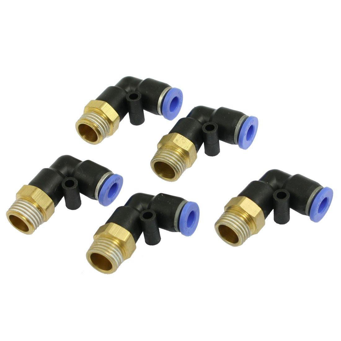uxcell 6mm x 1/4' PT Push In One Touch Connector Quick Fittings 5 Pcs Amico US-SA-AJD-07100