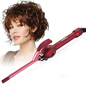 Chopstick Curling Iron Curling Wand,Curler with Ceramic Tourmaline Barrel, Dual Voltage Curling Wand with Adjustable Temperature for Short & Long Hair, 9Mm