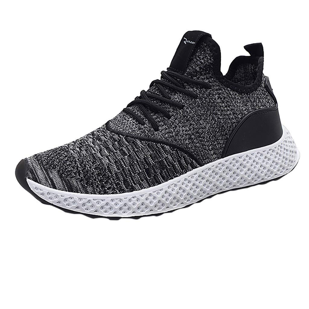 F_Gotal Mens Shoes Casual Mesh Breathable Lightweight Flying Athletic Shoes Lace Up Training Shoes Outdoor Sport Sneaker