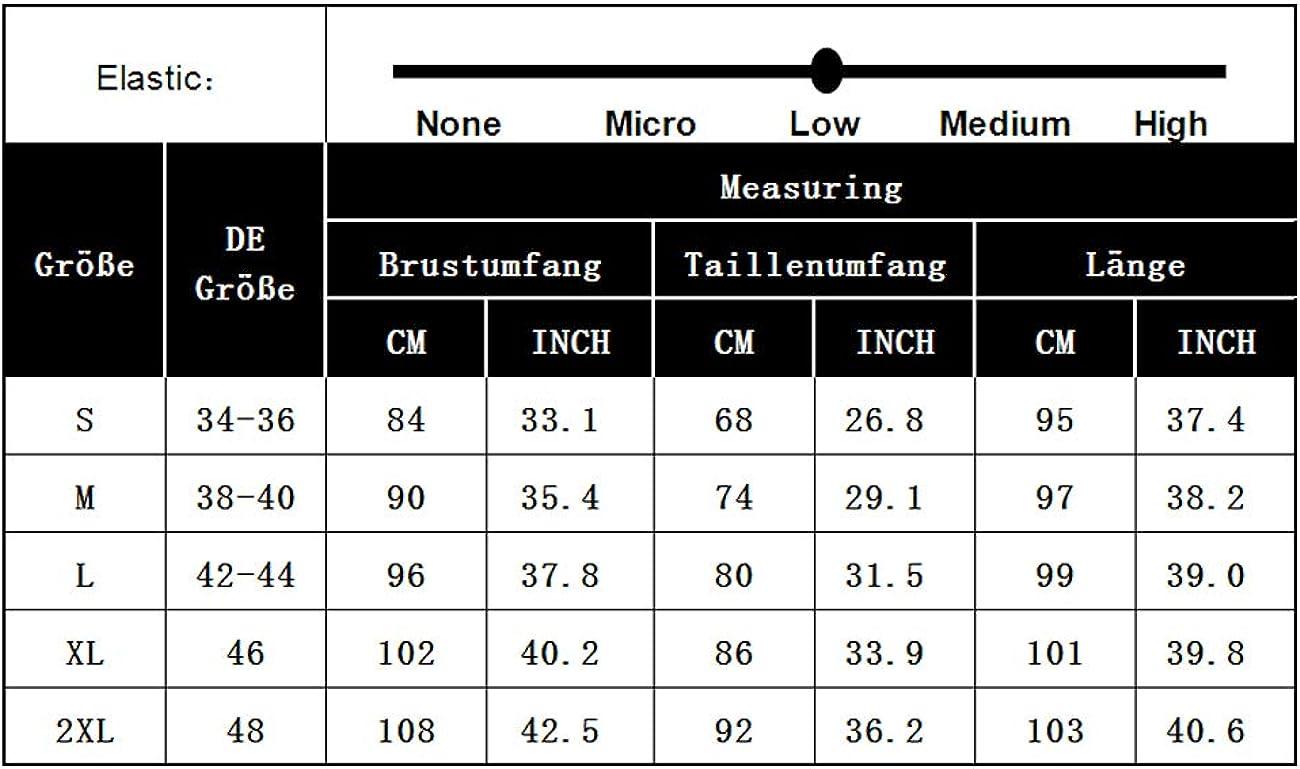 con scollo a V e cintura confezione a pi/ù vie Vestito da donna lunghezza al ginocchio maniche a 3//4 KOJOOIN