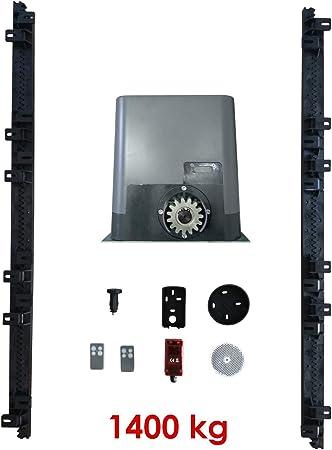 Kit Motor Corredera 1400kg: Motor + Cuadro universal corredera + Fotocélula + 4 m. Cremallera Nylon + 3 mandos: Amazon.es: Bricolaje y herramientas
