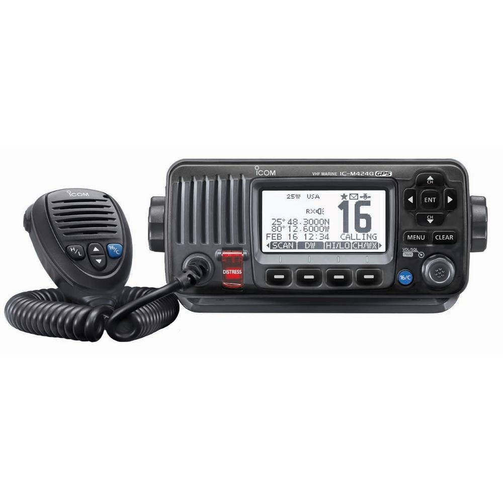 Icom M424g Vhf Radio W/int Gps -Black