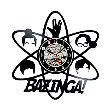 Vinyl Wall Clock Bazinga Big Bang Theory Vintage Clock