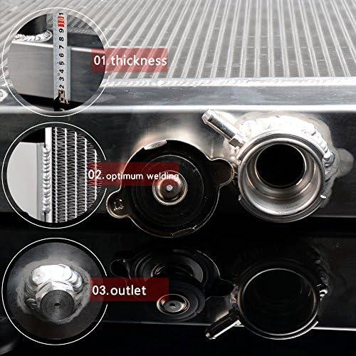GPLUS Full Aluminum Racing Radiator For 1972-1986 JEEP CJ CJ5 CJ6 CJ7 3.8-5.0 MT 73-85