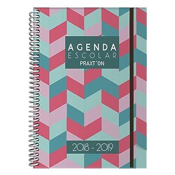 Agenda Escolar PRAXTON, Din-A6 1D/P 2018/19 (Rayas): Amazon ...