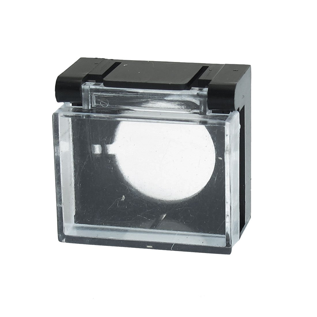 Black Clear Plastic Push Button Switch Guard Protector