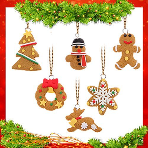 6 Pieces Christmas Tree Pendant Christmas Decoration Supplies Christmas Decorations Festival Party Ornament (Mickeys Halloween Party Tickets)