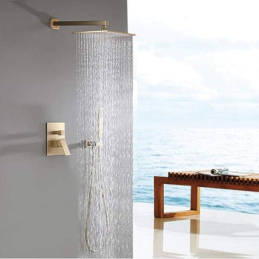 Cabina de ducha de oro cepillado para cabina de ducha cuadrada ...