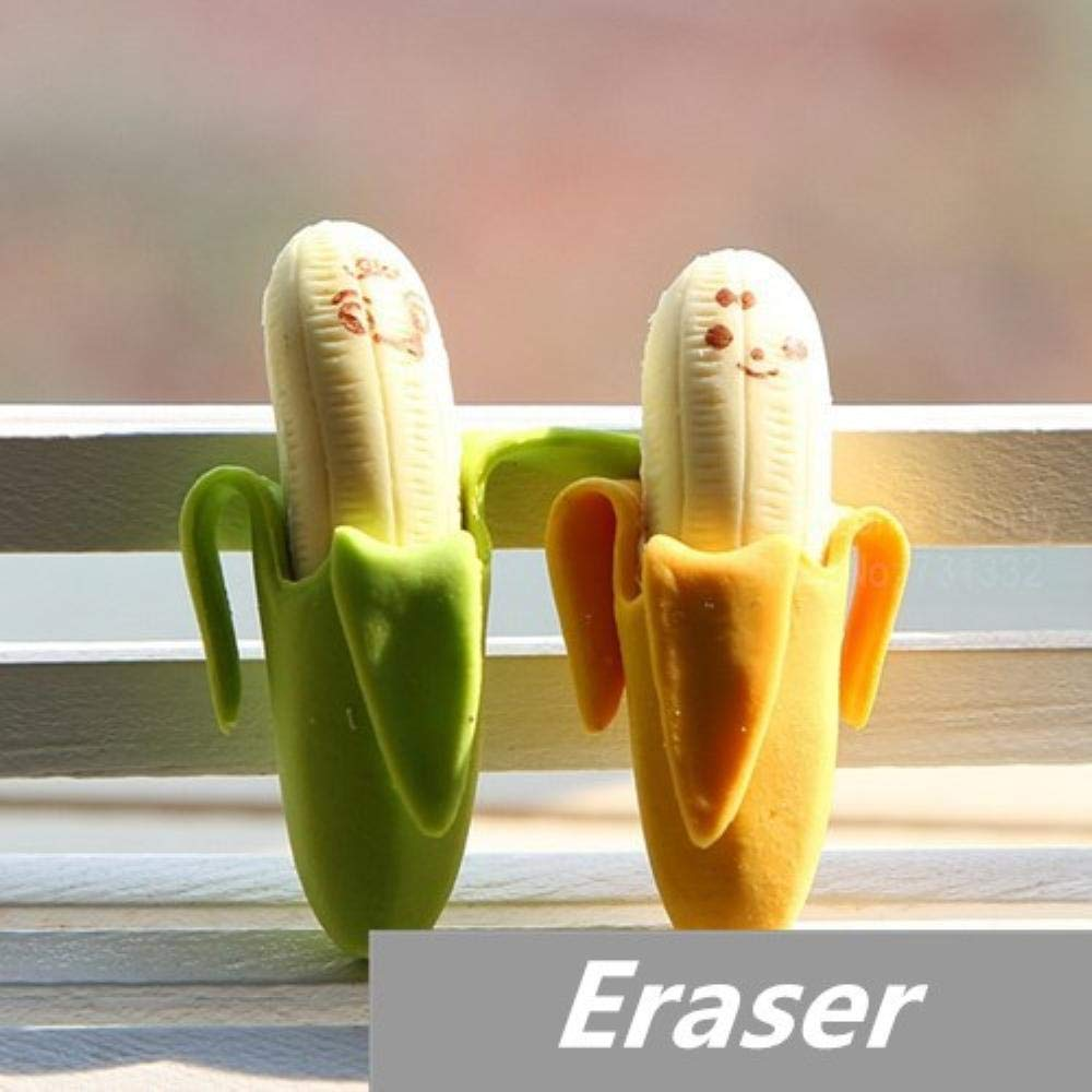 30 pcs/Lot Banana Erasers rubber for pencil funny cute stationery Novelty eraser Office accessories supplies