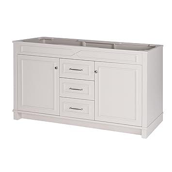 maykke abigail 60 inch bathroom vanity cabinet in birch wood french grey finish double floor