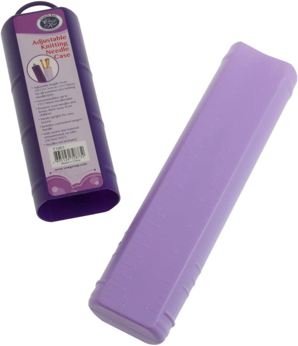 Hemline – Agujas de tejer (de plástico ajustables – Funda para agujas de ajuste a la medida de su: Amazon.es: Hogar