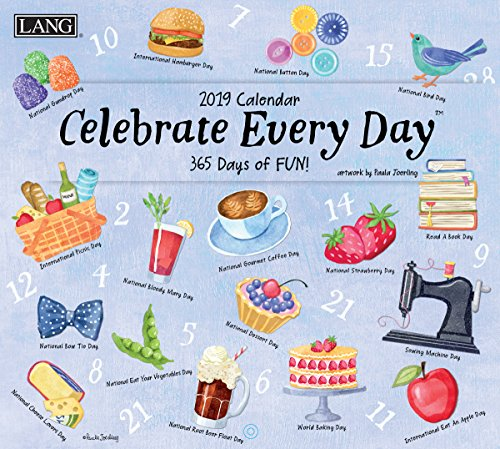 Lang Celebrate Everyday 2019 Wall Calendar Office Wall Calendar (19991002006)