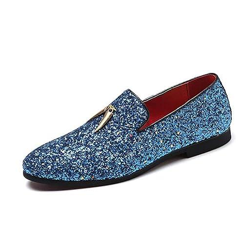 Zapatos de Hombre, Zapatos de Cuero nuevos de Tide Flow para Hombre, Mocasines con