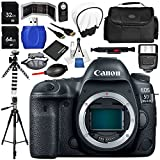 Canon EOS 5D Mark IV DSLR Camera (Body Only) 17PC Accessory Bundle - Includes 64GB SD Memory Card + 32GB SD Memory Card + Memory Card Reader + Memory Card Wallet + MORE
