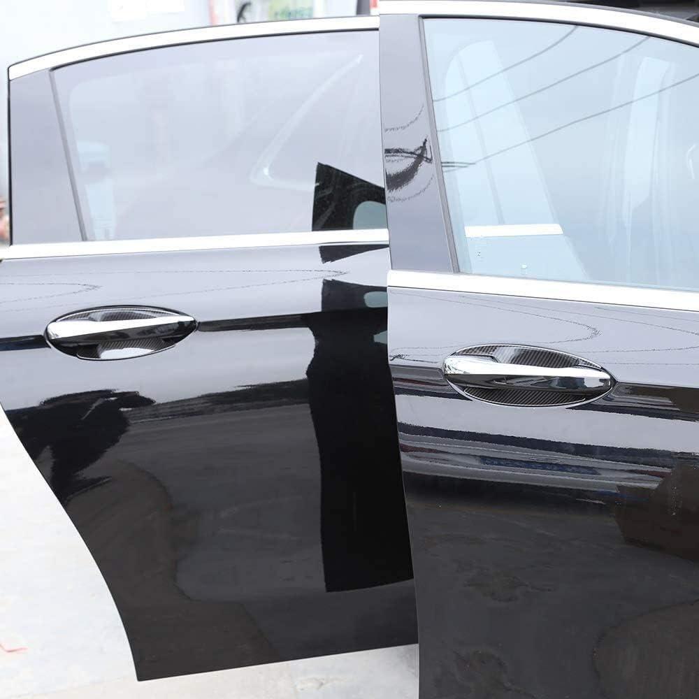 Xyh 4 x Stile Fibra di Carbonio for Benz W213 E-Class 16-19 W205 C-Class GLC x253 ABS Ciotola sportello del Coperchio Copertura Decorativo Accessori for Auto Auto