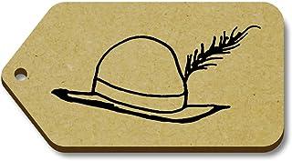 Azeeda 10 x 'Chapeau Vintage' etiquettes de Bagage / Cadeau en Bois (TG00008338)