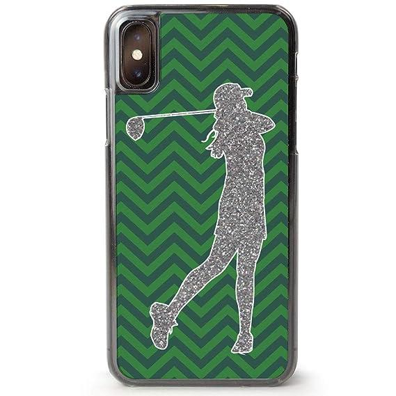 quality design c20bd 65ce7 Amazon.com: Golf iPhone 6/6S Case | Faux Glitter Silhouette Chevron ...