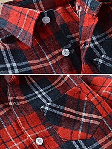 24dd21b9de9 Baby Boys Girls Button Down Plaid Flannel Long Sleeve Shirt(2T-7T ...