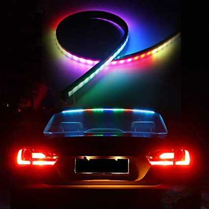 Universal Flexible Red LED Car Third Brake Stop Rear Tail Light Bar Strip 90cm
