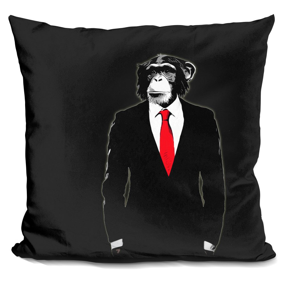 LiLiPi Domesticated Monkey Decorative Accent Throw Pillow
