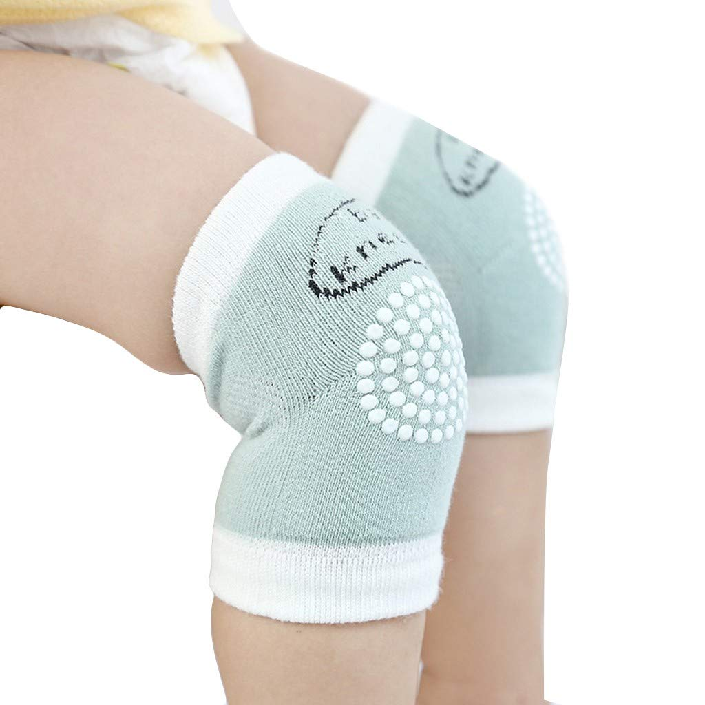 Baby Knee Pads for Crawling Anti-Slip Unisex Toddler Leg Warmer Safety Protective Cover Children Short Kneepads Blue
