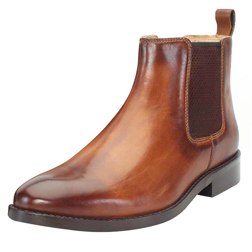 Buy BRUNE Men Tan Color Ankle Chelsea