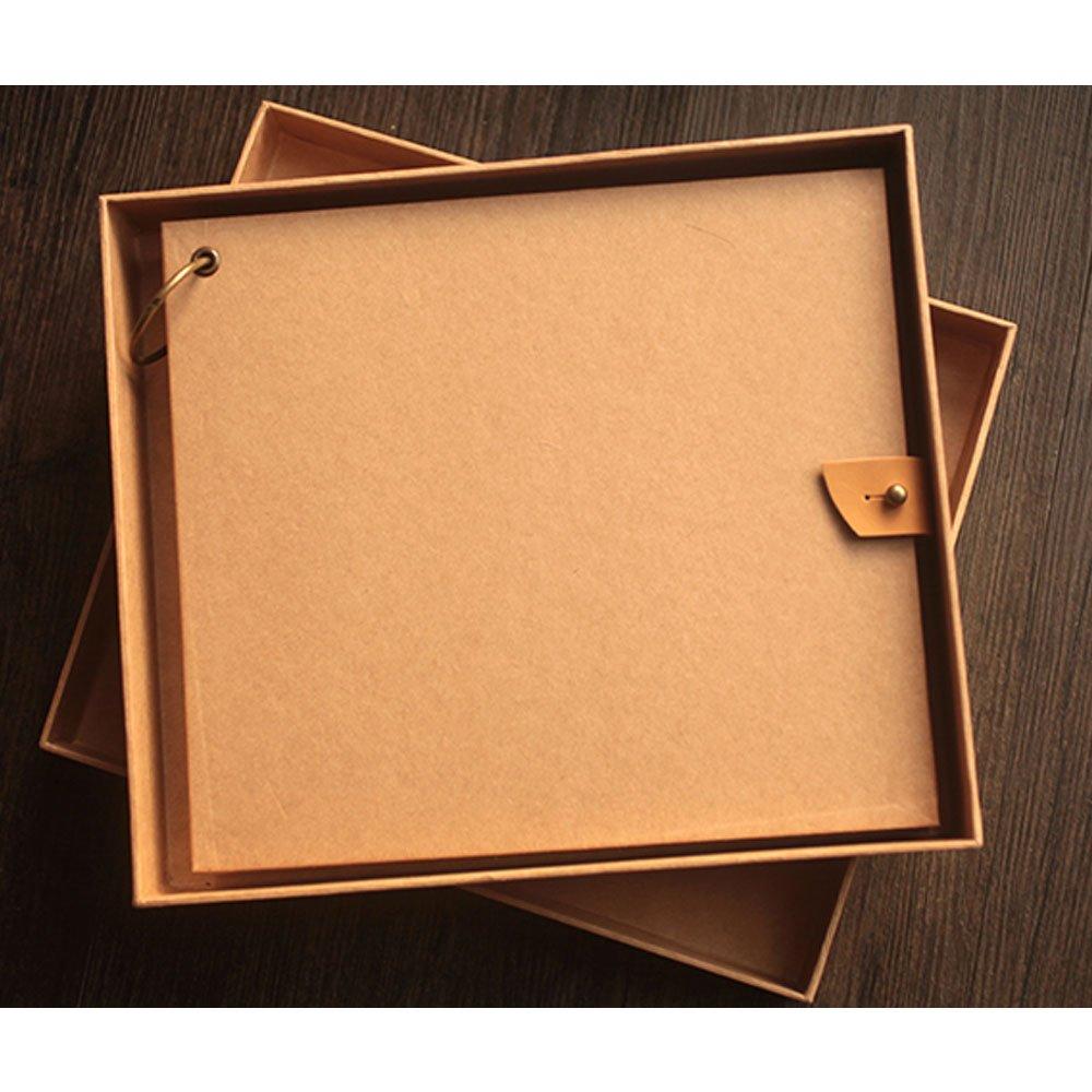 Scrapbook Album,66 Pages,Craft Paper DIY Album Anniversary, Wedding Guest Book,Baby Shower Gift,Baby Album with Photo Album Storage Box DIY Accessories Kit KAIDELIN