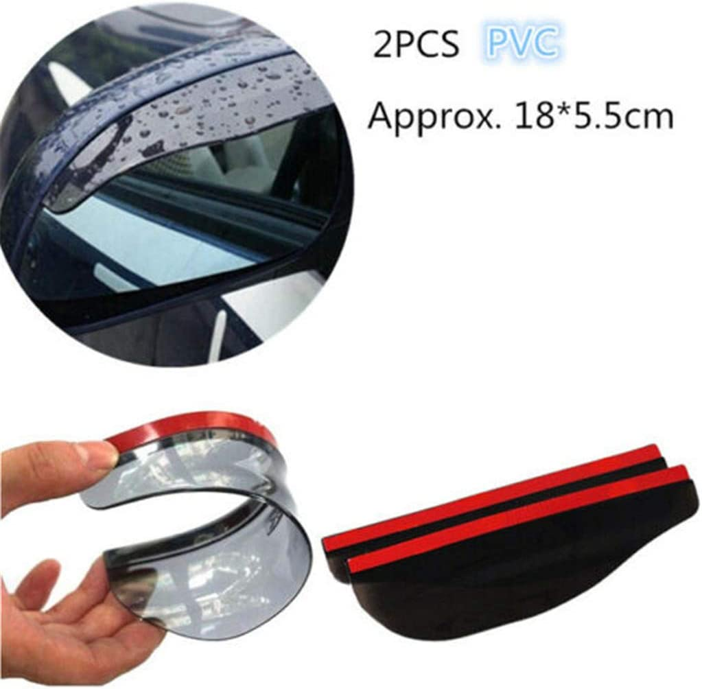 Black Oksea 2Pcs Universal Car Mirror Rainproof Blade Rearview Waterproof Eyebrow Rain Guard From Rain Side Mirror Rain Board