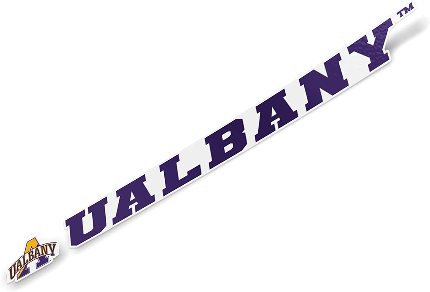 University at Albany UALBANY Great Danes SUNY NCAA Name Logo Vinyl Decal Laptop Water Bottle Car Scrapbook (15 Inch Sticker)