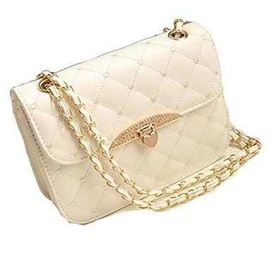 KERAL Korean Peach Heart Embroidered Handbag Diamond Lozenge Chain ...