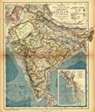 Historic Map | 1884 General Map of India |