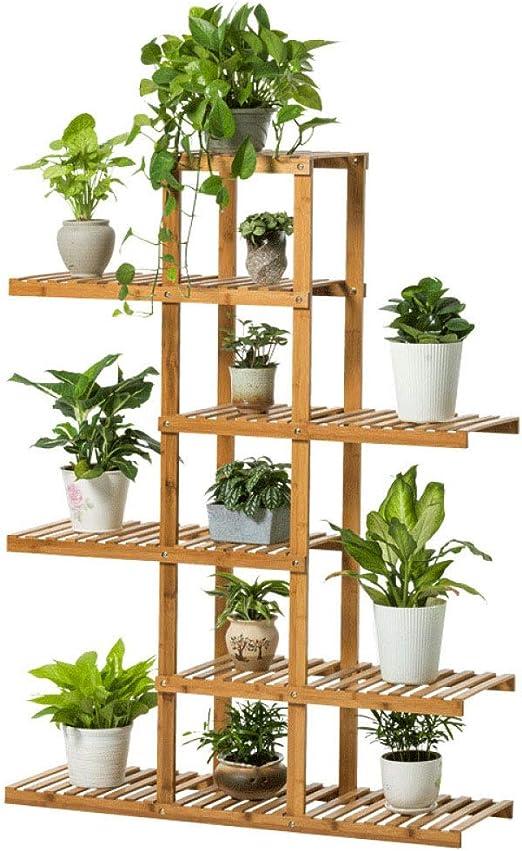 YAHAO Soporte De Madera para Plantas Estantería para Macetas Flores con 6 Niveles Estantería Decorativa para Jardín Balcón Exterior Interior: Amazon.es: Hogar