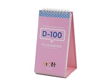 yiio Peso ligero de 100 días Plan mesa Calendario Student Ordenador Portátil Plan de aprendizaje Coil (Rosa): Amazon.es: Hogar
