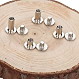 SOTOGO 120 Count Silvery Chicago Screws Assorted Kit 1/4 1/3 3/8 1/2 Inches Screw Posts Metal Accessories Nail Rivet Chicago Button For DIY Leather Decoration Bookbinding Round Flat Head Stud Screw