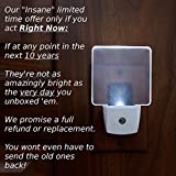 TK LED Night Light v.2017 Super Bright Power-Saver 0.2w (2pk). Plug in for Adult, Baby, and Kids.