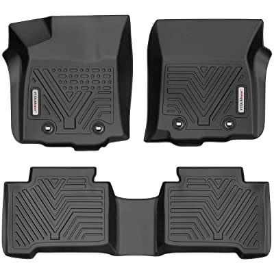 YITAMOTOR Floor Mats Compatible with Tacoma Double Cab, Custom Fit Floor Liners for 2020-2020 Toyota Tacoma, 1st & 2nd Row All Weather Protection: Automotive