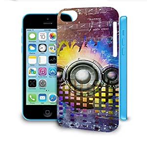 Phone Case For Apple iPhone 5C - Music DJ Trance Back Wrap-Around