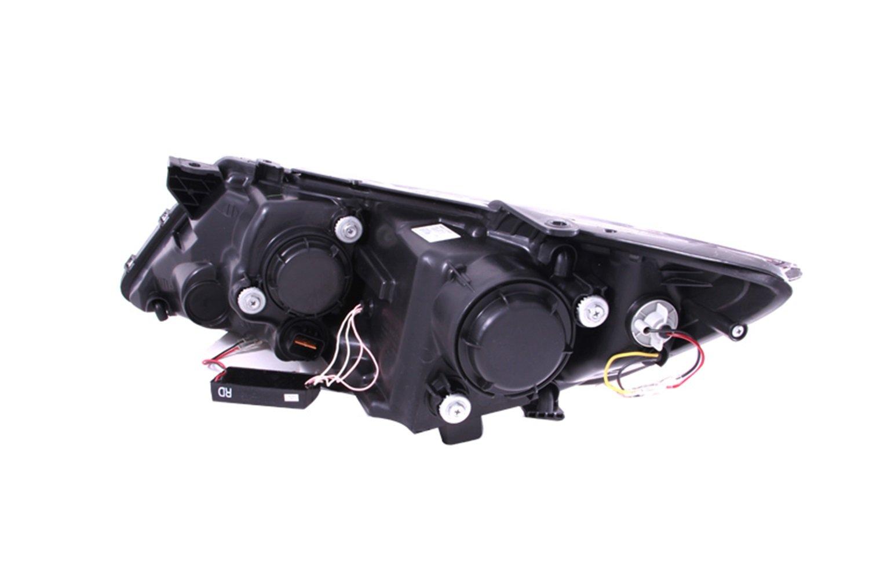 AnzoUSA 121460 Black//Clear//Amber Halogen Projector Headlight for Kia Optima Anzo USA
