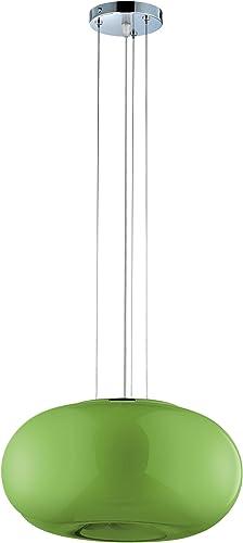 Eurofase 12895-014 Pop-2 3-Light Convertible Pendent, Chrome Green