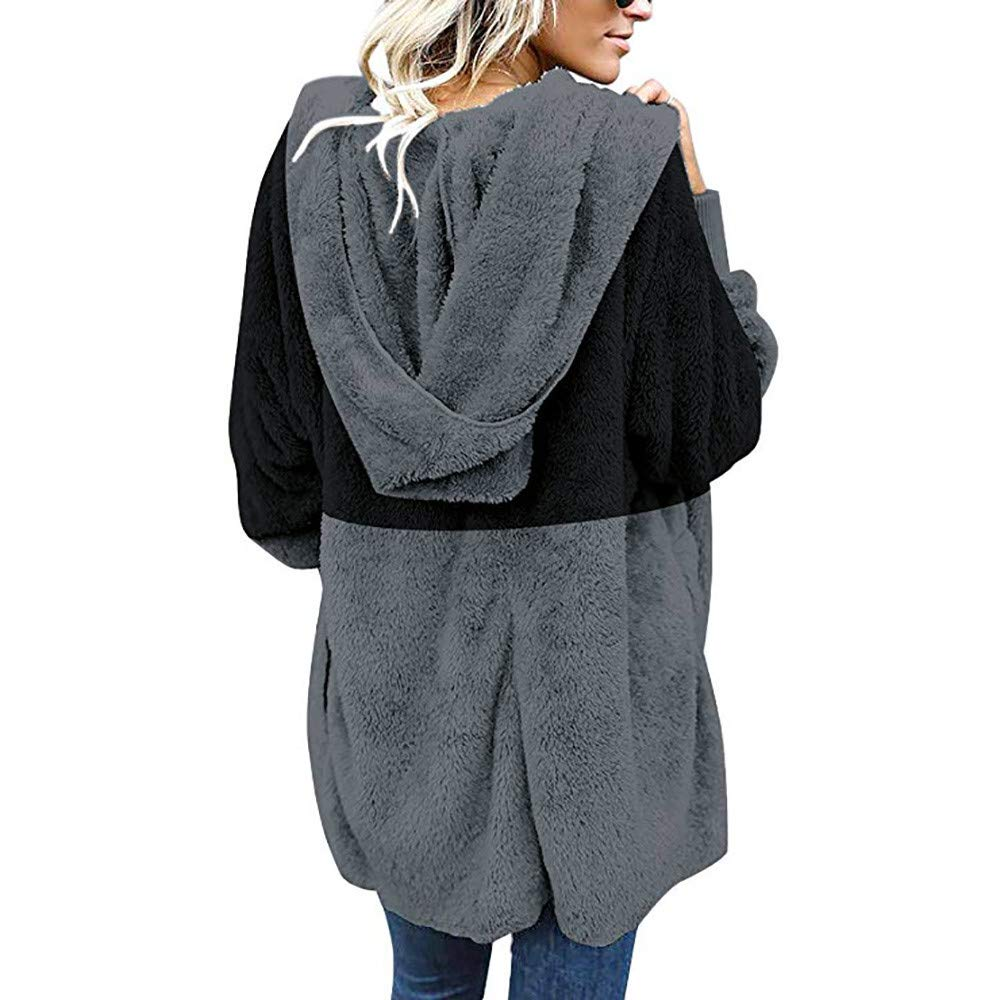 Clearance Women Cardigan COPPEN Oversized Open Christmas Hooded Draped Pockets Coat COOPEN