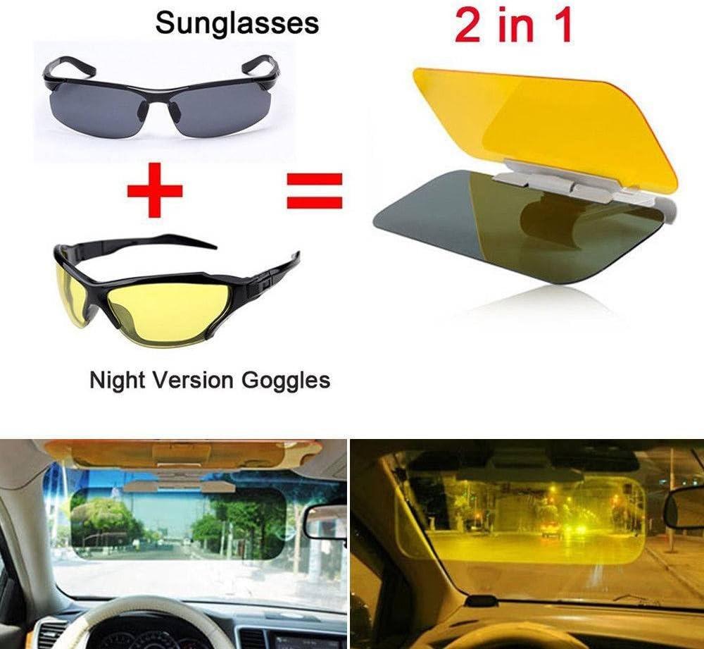 JXHD Car Anti-Glare Sun Visor Extension HD Day//Night Vision Driving Mirror Sun Visors