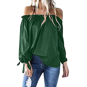 70b2ef9bd13 Image Unavailable. Image not available for. Color  OldSch001 Women s Casual  Boat Neck Long Sleeve Tunic Tops Off Shoulder T-Shirt ...