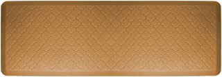 product image for WellnessMats Anti-Fatigue Trellis Motif Kitchen Mat, 72 Inch by 24 Inch, Tan