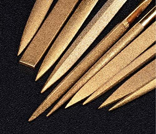 Ensemble de fichiers daiguille de diamant pour guitare frettes bois mou m/étal et plastique 140mm